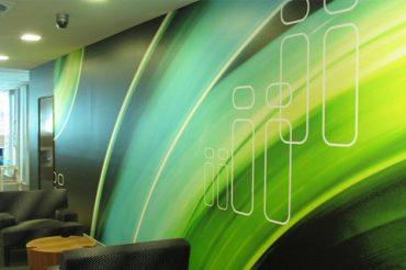 Sign Installation Services: Office Interior Graphic Installation