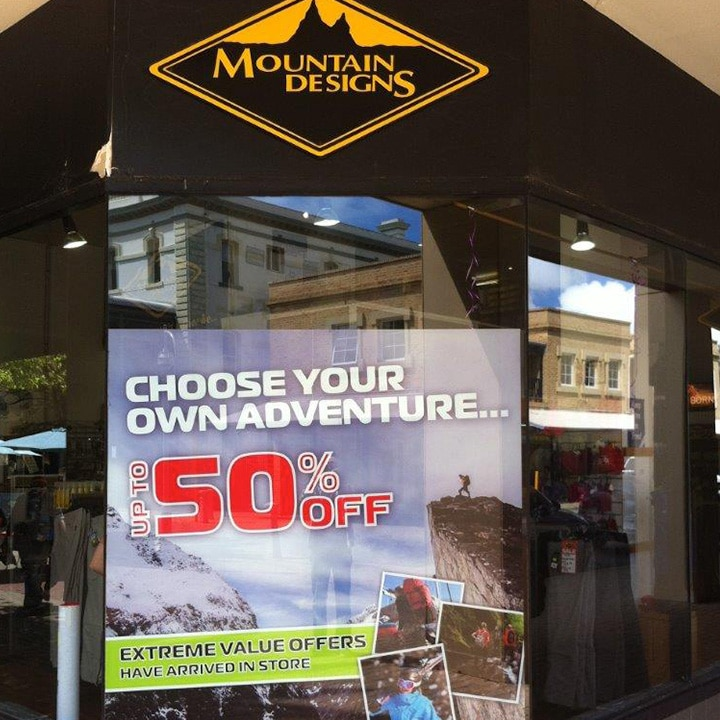 Vinyl Sign Installation by Perth Sign Installers: Mountain Designs, Perth, Western Australia