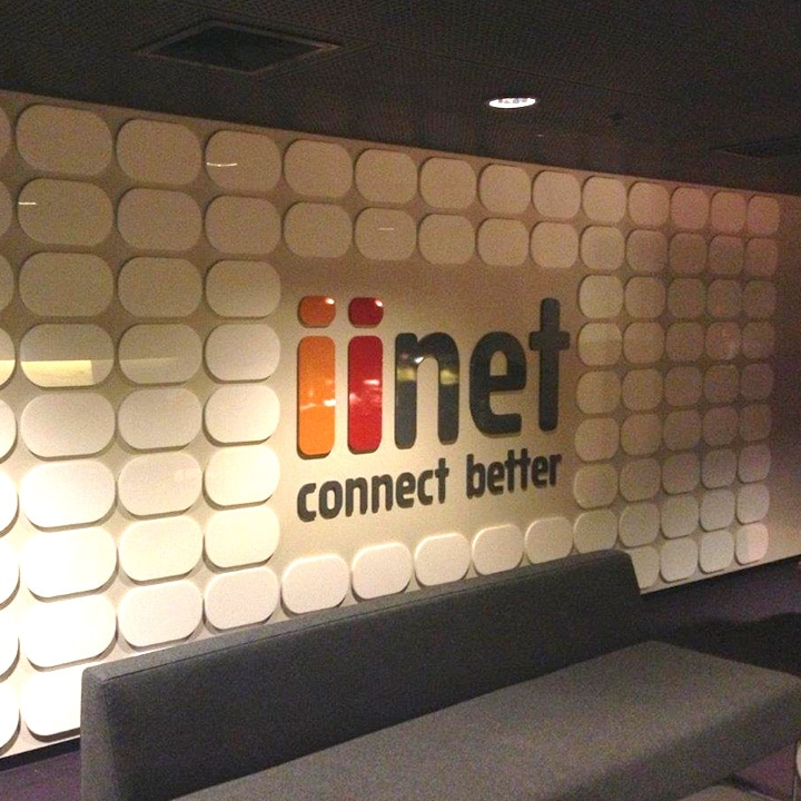 Perth Sign Installers: iinet Wall Graphics, Perth Arena, Western Australia