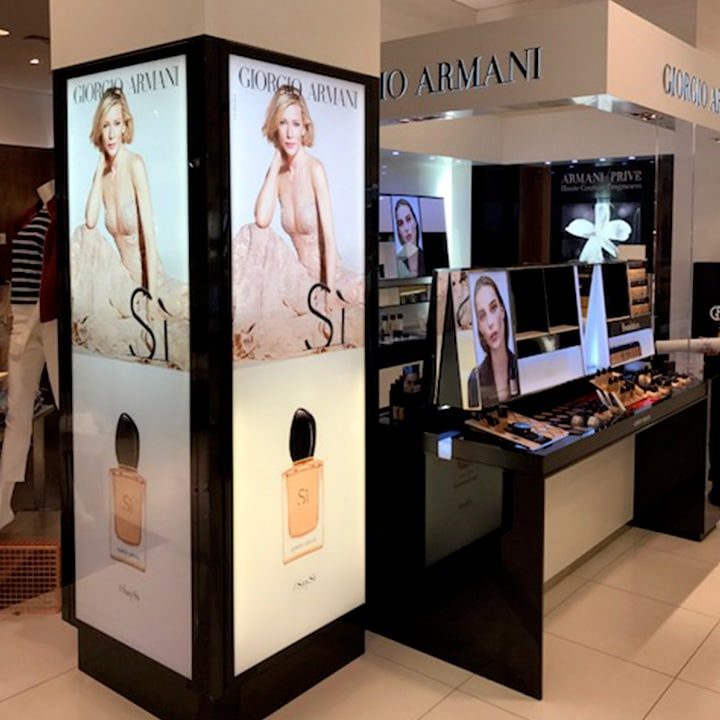 Perth Sign Installers: Giorgio Armani retail signs, Perth, Western Australia