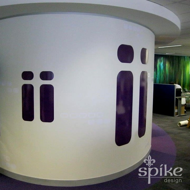 Perth Sign Installers: iinet Interior Office Graphics, Perth, Western Australia