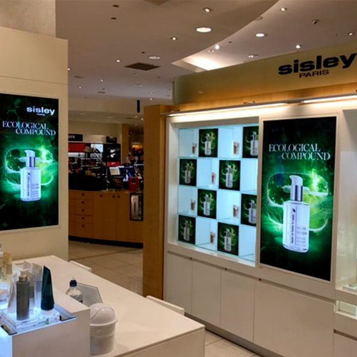 Perth Sign Installers: Sisley retail signs, Perth, Western Australia