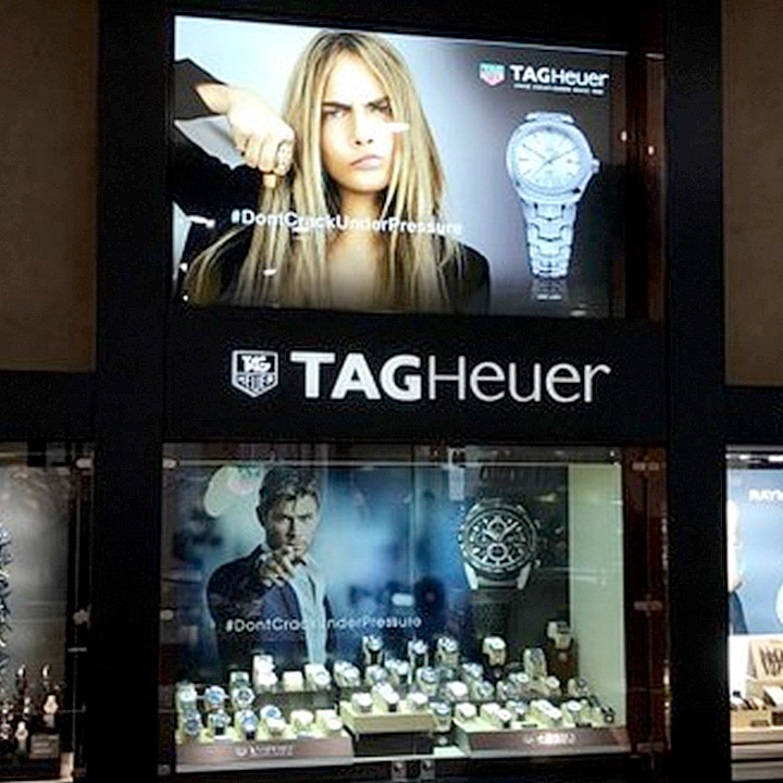 Perth Sign Installers: TAG Heuer retail signs, Perth, Western Australia