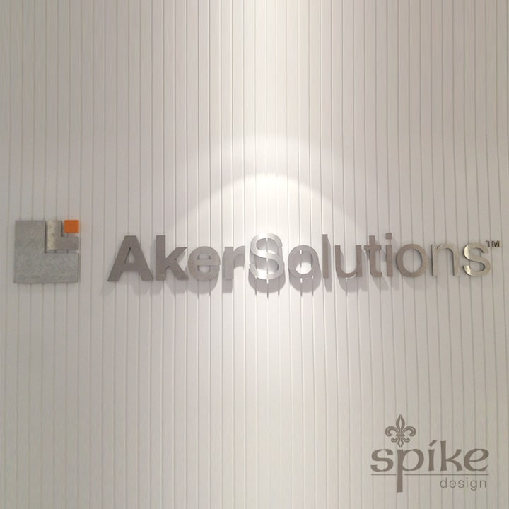 Perth Sign Installers: Aker Solutions 3D Cut Out Logo, Office Graphics, Perth, Western Australia