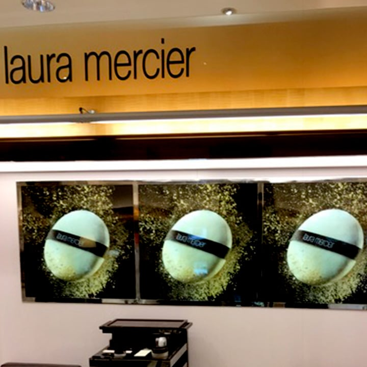 Perth Sign Installers: Laura Mercier retail signs, Perth, Western Australia